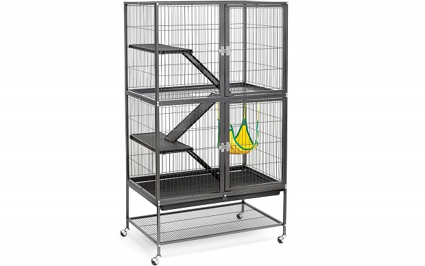Black Feisty Ferret Cage By Prevue Hendryx