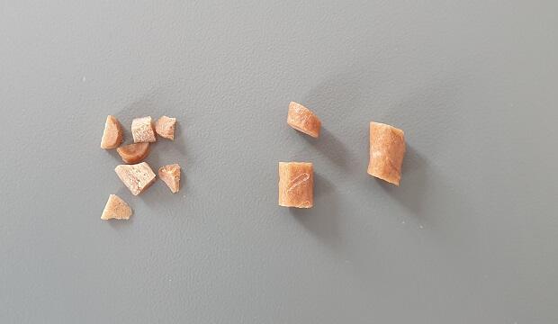 Cut Treats Into Smaller Pieces