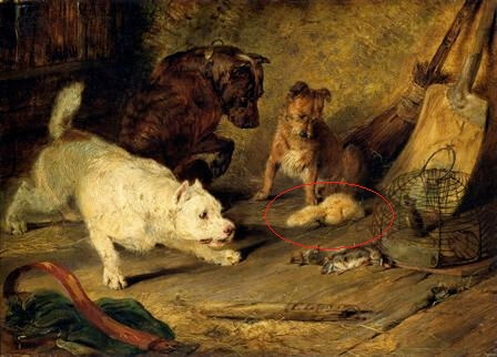 history painting with ferret